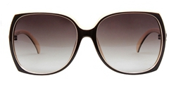 诗维达深咖乳白全框时尚板材偏光太阳镜12062/158-P16
