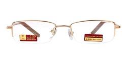华伦金盾金色半框合金老花镜X6010-135