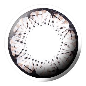Bescon星钻系列美瞳彩色隐形眼镜平光(0度)2片装-半年抛-棕色