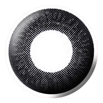 Bescon三色润彩系列大直径美瞳彩色隐形眼镜1片装-半年抛-黑色