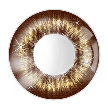 JUST COLOR美瞳彩色隐形眼镜年抛(X366)-星光-蜜棕