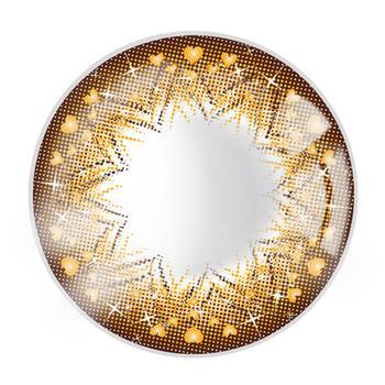 JUST COLOR美瞳彩色隐形眼镜年抛(DX2167)-花心-琥珀棕