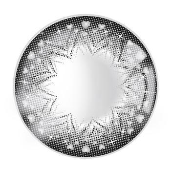 JUST COLOR美瞳彩色隐形眼镜年抛(DX2167)-花心-银石灰